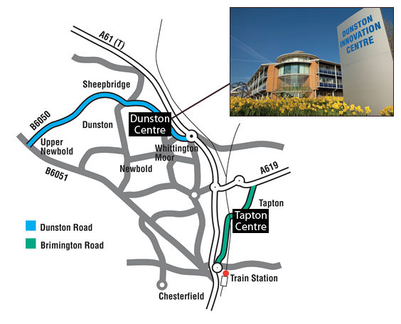 Dunston Innovation Centre Map